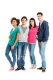 Ομάδα ευτυχών χαμογελώντας φίλων στοκ φωτογραφίες με δικαίωμα ελεύθερης χρήσης