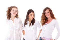Ομάδα ευτυχών όμορφων γελώντας κοριτσιών Στοκ εικόνα με δικαίωμα ελεύθερης χρήσης