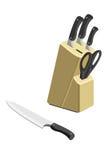 Ομάδα μαχαιριών σχετικά με μια άσπρη ανασκόπηση Στοκ εικόνες με δικαίωμα ελεύθερης χρήσης