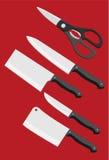 Ομάδα μαχαιριών του κινεζικού αρχιμάγειρα Στοκ Φωτογραφίες
