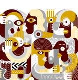 Ομάδα μεθυσμένου διανυσματικού έργου τέχνης ανθρώπων απεικόνιση αποθεμάτων
