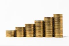 Ομάδα νομίσματος που απομονώνεται στο λευκό Στοκ Εικόνες