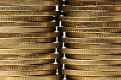 Ομάδα νομίσματος στο λευκό Στοκ Φωτογραφίες