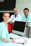ομάδα νοσοκομείων στοκ εικόνα με δικαίωμα ελεύθερης χρήσης