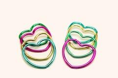 Ομάδα πολύχρωμων καρδιών Στοκ Εικόνες