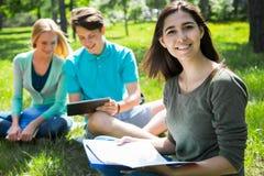 Ομάδα σπουδαστών που μελετούν από κοινού στοκ φωτογραφία με δικαίωμα ελεύθερης χρήσης