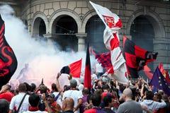ομάδα της Γένοβας ποδοσ&ph Στοκ εικόνες με δικαίωμα ελεύθερης χρήσης