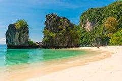 ομάδα τουριστών στο νησί της όμορφης θέσης της Hong σε Thail στοκ εικόνες