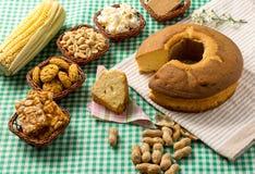 Ομάδα τροφίμων Festa Junina, ένα χαρακτηριστικό βραζιλιάνο κόμμα: Pe de Στοκ Εικόνα