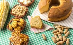 Ομάδα τροφίμων Festa Junina, ένα χαρακτηριστικό βραζιλιάνο κόμμα: Pe de Στοκ εικόνα με δικαίωμα ελεύθερης χρήσης