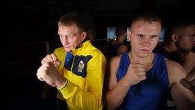 Ομάδα των μπόξερ από την Ουκρανία Εικόνα του μπόξερ Κατάρτιση των μπόξερ φιλμ μικρού μήκους