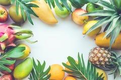 Ομάδα φρούτων στο άσπρο διάστημα στοκ φωτογραφία με δικαίωμα ελεύθερης χρήσης