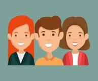 Ομάδα χαρακτήρων φίλων ελεύθερη απεικόνιση δικαιώματος