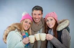 Ομάδα χειμερινών φλυτζανιών Στοκ εικόνες με δικαίωμα ελεύθερης χρήσης