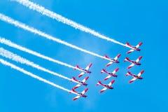 Ομάδα Aerobatic σχετικά με το airshow στοκ φωτογραφίες με δικαίωμα ελεύθερης χρήσης