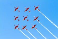 Ομάδα Aerobatic σχετικά με το airshow στοκ εικόνες