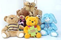ομάδα teddies Στοκ Εικόνες