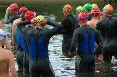 ομάδα triathletes στοκ φωτογραφία με δικαίωμα ελεύθερης χρήσης