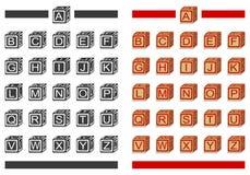 Ομάδες δεδομένων αλφάβητου Στοκ εικόνες με δικαίωμα ελεύθερης χρήσης