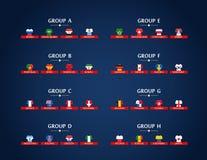 Ομάδες πρωταθλήματος παγκόσμιου ποδοσφαίρου Ποδόσφαιρο Στοκ φωτογραφίες με δικαίωμα ελεύθερης χρήσης