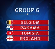 Ομάδες πρωταθλήματος ποδοσφαίρου Σύνολο εθνικών σημαιών Σύρετε το αποτέλεσμα Παγκόσμια πρωταθλήματα ποδοσφαίρου Realistic Footbal Στοκ φωτογραφία με δικαίωμα ελεύθερης χρήσης