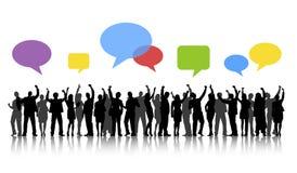Ομάδα έννοιας λεκτικών φυσαλίδων εορτασμού επιχειρηματιών Απεικόνιση αποθεμάτων