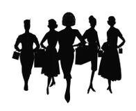 Ομάδα αγορών γυναικών διανυσματική απεικόνιση