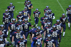 ομάδα αμερικανικού ποδοσφαίρου Στοκ Εικόνα