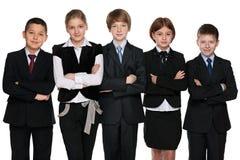 ομάδα ανασκόπησης πέρα από το λευκό σπουδαστών χαμόγελου Στοκ Εικόνα