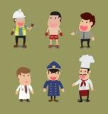Ομάδα ανθρώπων στο διαφορετικό επάγγελμα διανυσματική απεικόνιση