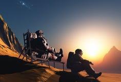 Ομάδα αστροναυτών Στοκ φωτογραφία με δικαίωμα ελεύθερης χρήσης