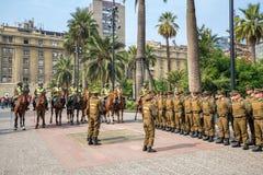 Ομάδα αστυνομικών Plaza de Armas, Χιλή Στοκ Εικόνα