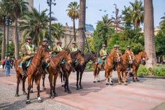 Ομάδα αστυνομικών Plaza de Armas, Χιλή Στοκ Εικόνες