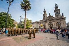 Ομάδα αστυνομικών Plaza de Armas, Χιλή Στοκ Φωτογραφία