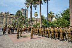 Ομάδα αστυνομικών Plaza de Armas, Χιλή Στοκ φωτογραφία με δικαίωμα ελεύθερης χρήσης