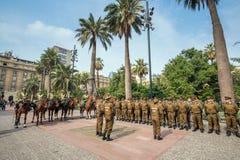 Ομάδα αστυνομικών Plaza de Armas, Χιλή Στοκ Φωτογραφίες