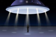 Ομάδα ατόμων που βλέπουν UFO ελεύθερη απεικόνιση δικαιώματος