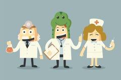 Ομάδα γιατρών και νοσοκόμων ελεύθερη απεικόνιση δικαιώματος