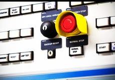 Ομάδα εκλεκτικού τεθειμένου διακόπτη κουμπιών και έκτακτης ανάγκης Στοκ εικόνες με δικαίωμα ελεύθερης χρήσης