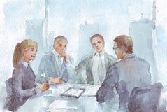 Ομάδα επιχειρησιακής εργασίας στο γραφείο Στοκ εικόνα με δικαίωμα ελεύθερης χρήσης