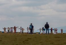 Ομάδα λευκιάς αδελφοσύνης, επτά λίμνες Rila στη Βουλγαρία Στοκ Φωτογραφίες