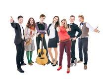 Ομάδα ευτυχών χαμογελώντας σπουδαστών Στοκ Φωτογραφία