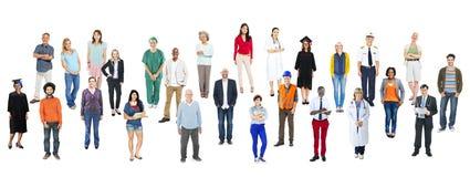Ομάδα διάφορων ανθρώπων επαγγελμάτων Multiethnic Στοκ εικόνα με δικαίωμα ελεύθερης χρήσης