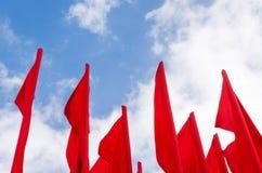 Ομάδα κόκκινων σημαιών Στοκ Φωτογραφία