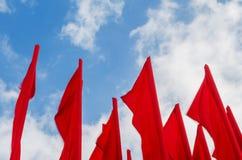 Ομάδα κόκκινων σημαιών Στοκ εικόνες με δικαίωμα ελεύθερης χρήσης