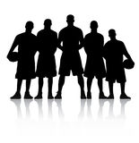 ομάδα μπάσκετ Στοκ Εικόνες