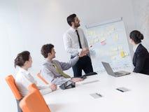 Ομάδα νέων επιχειρηματιών στη συνεδρίαση στο σύγχρονο ξεκίνημα μακριά Στοκ Εικόνες