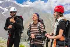 Ομάδα ορειβατών βουνών Στοκ Φωτογραφία