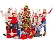 Ομάδα παιδιών με Άγιο Βασίλη. Στοκ φωτογραφία με δικαίωμα ελεύθερης χρήσης