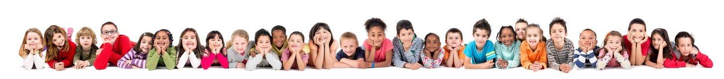 Ομάδα παιδιών στοκ εικόνα με δικαίωμα ελεύθερης χρήσης